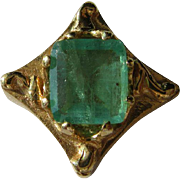 14kt Yellow Gold Vintage Emerald Slide for Slide Bracelet