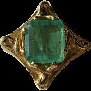 14kt Yellow Gold Vintage Emerald Slide for Slide Bracelet