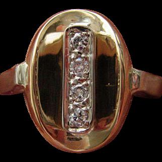 14kt Yellow/White Gold Multi Diamond Oval Ladies Ring