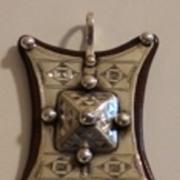 Beautifully Etched Silver Tuareg Pendant
