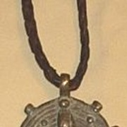 Old Mali Bronze Pendant Necklace