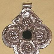 Antique Silver Hamsa by Jewish Smith