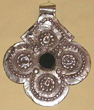 Antique Silver Hamsa by Jewish Smith