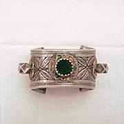 Berber Open Enameled Bangle Bracelet