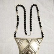 Large Tuareg Silver Talisman Amulet Necklace