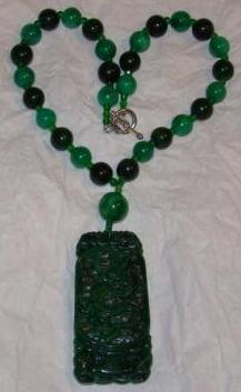 Dragon & Phoenix Jade Pendent Necklace