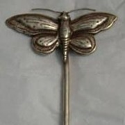 Antique Tibetan Silver Butterfly Phoenix Hair Pin