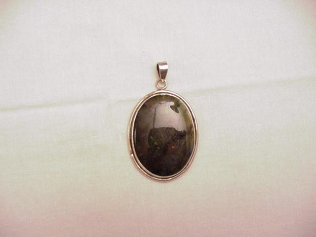 Silver Pendent w/ Labradorite No. 1