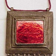 Antique Moroccan Silver Amulet Box Pendent