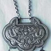 Twin-dragon Silver Lock
