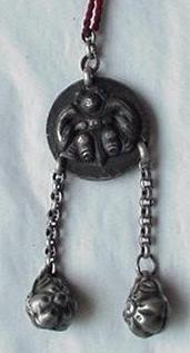 Antique Silver Pendent with Tassels
