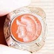 Arabic Carved Knight/Warrior Carnelian Seal Ring No. 4