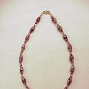 Glass Copper Bead Necklace