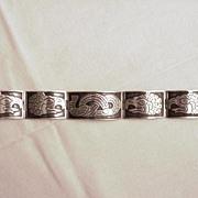 Mexican Silver Eagle/Snake Bracelet