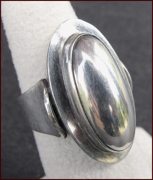 NIELS ERIK FROM, N.E. From, Denmark Modernist Sterling Silver Ring