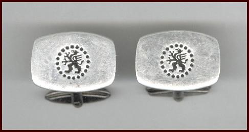 Elegant Signed British Sheffield Sterling Silver Cufflinks