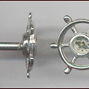 Novelty Compass / Ships Wheel Cufflinks