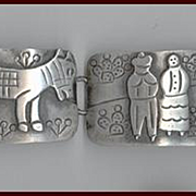 Signed JOSE ANTON Sterling Silver TAXCO Picture Bracelet