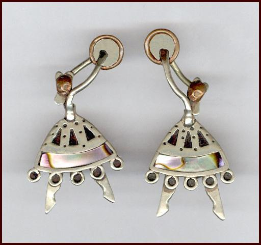 Too Cute Mexican Sterling Dancing Lady Earrings