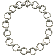 NAPIER Modernist Sterling Silver Necklace