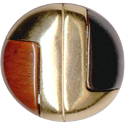 LANVIN Modernist Style Clip Back Earrings