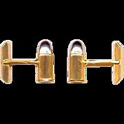 SWANK Gold Tone & Silver Tone Bullet Cufflinks