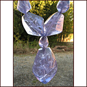 "HUGE Narducci Lavender Resin ""Crystals"" Necklace"