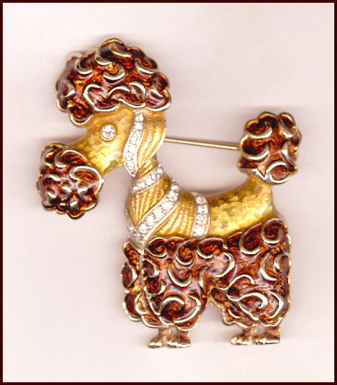 Kramer Bi-Color Enamel Poodle Pin