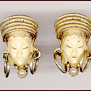 Rare Selro Asian Princess Cufflinks