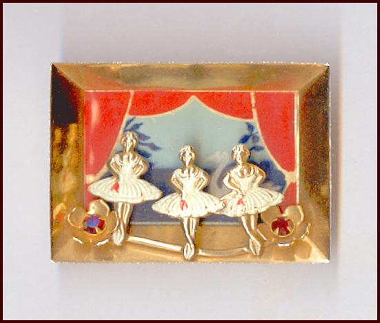 3 Dimensional Scene, Window Box, Shadow Box, Diorama style Ballerina Pin Swan Lake
