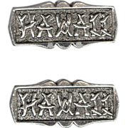 Novelty HAWAII Silver Tone Metal Cufflinks