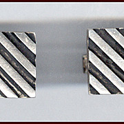 Signed ROTTER American Modernist Sterling Silver Cufflinks