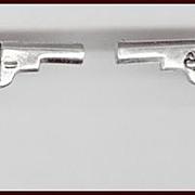ANSON Silver Tone Percussion Revolver Cufflinks