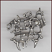 Canadian Modernist Guy Vidal Pewter Pin