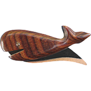 Fun Friendly Whale Pin Hardwood & Copper