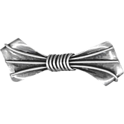 Early Th Frederiksen Denmark Sterling Silver Bow Pin