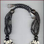 Bold MONIES Multi-Strand Black & White Necklace