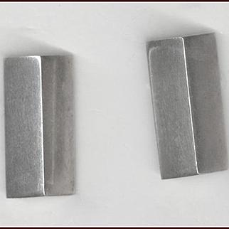 Modernist Sterling Silver MARCIN ZAREMSKI Pierced Earrings