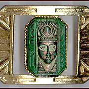 Egyptian Revival Bracelet Molded Glass Faces