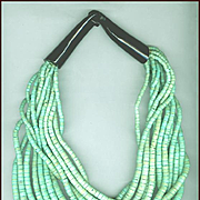 MONIES Multi-Strand Sea Green Coconut Shell Necklace