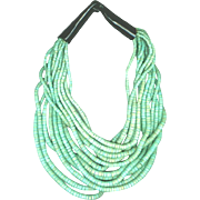 MONIES Multi-Strand Sea Green Coconut Shell Necklace