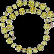 Canary Yellow & Aventurine Murano Glass Beads
