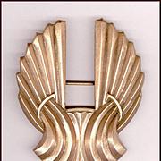Elegant Signed Joseff Art Deco Style Pin