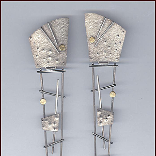 Too Cool MODERNIST Style Silver Earrings