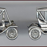 3 Dimensional Model T Vintage Car Cufflinks