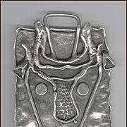 Modernist Artisan Signed Dina Dotan Sterling Silver Pendant Israel