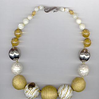 Dramatic Huge Bead Necklace FABRICE Brand French