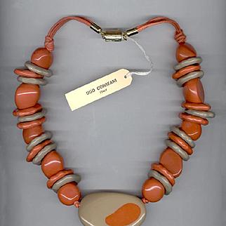 Fabulous RARE Ugo Correani Italy 1980's Necklace