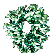 MONIES Multi-Strand Green Shell & Faux Pearl Elastic Bracelet