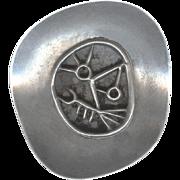 Modernist Signed Novitt Sterling Silver Pin